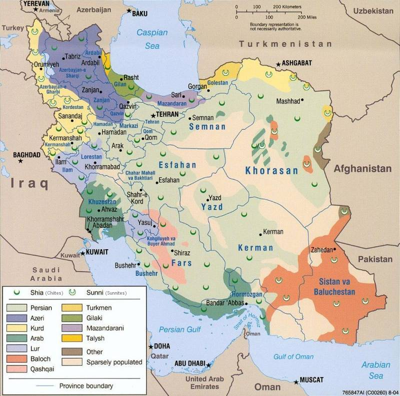 Iranian linguistic map religious et ethnic map