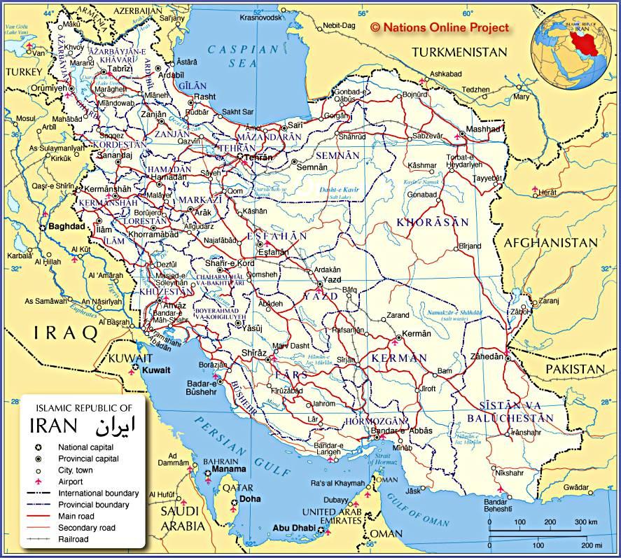 Cartes d'Iran, plans de villes d'Iran, plan de Téhéran, vue