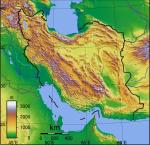 carte physique iran