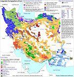 carte linguistique iran