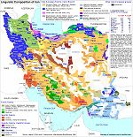carte linguistique iran